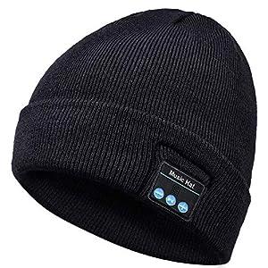 Bluetooth Beanie Cappello, Regalo per Uomo e Donna, Aggiornato Bluetooth 5.0 Musica Running Hat, Wireless Cuffie Incassato Altoparlanti Stereo HD con USB Ricaricabile per Sport Allaperto Natale Regalo 3 spesavip