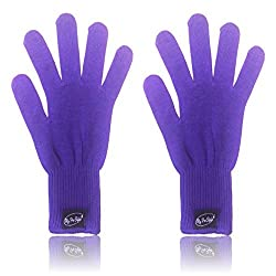 2 X Purple Heat Resistant Gloves For Flat / Curling Irons & Other Hot Hair Styling Tools By My Pro Styler