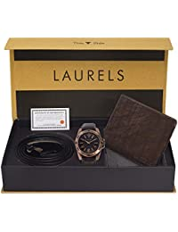 Laurels Multicolor Men's Wallet With Watch & Belt -Combo Pack (CP-RDS-505-HRNT-09-VT-0209)