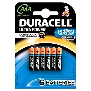 Duracell - Pile Alcaline - Duralock AAAx6 Ultra Power (LR03) par Duracell