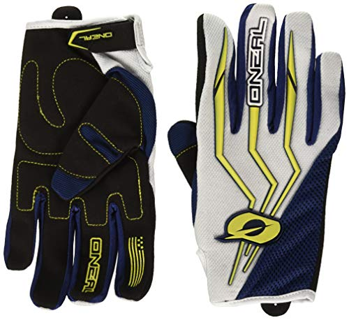 0392-211 - Oneal Element 2018 Motocross Gloves XL Blue Yellow