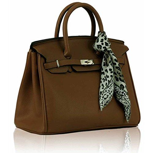 getthatbagr-brook-gran-candado-bolso-color-marron-talla-l