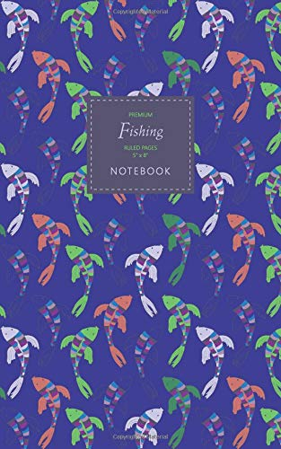 Fishing Notebook - Ruled Pages - 5x8 - Premium: (Winter Deep Edition) Fun notebook 96 ruled/lined pages (5x8 inches / 12.7x20.3cm / Junior Legal Pad/Nearly A5)