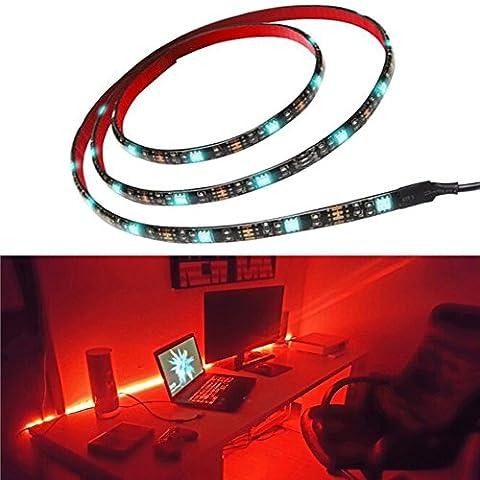 Bias Lighting for HDTV Multi Color RGB LED Strip USB Rétro-éclairage de la télévision Home Theater Accent lighting 35.4