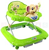 Lauflernhilfe ELEPHANT Green / Grün Lauflernwagen Lauflerngerät Baby Walker