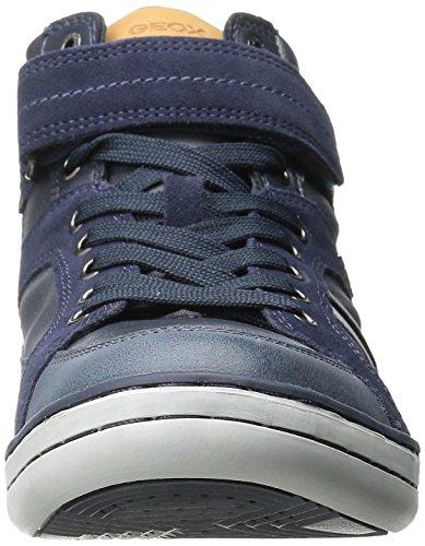 Geox Garcia B A, Jungen Hohe Sneakers Blau (c4002)