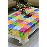 Freely Plastic Center Table Cover for 4 Seaters, 40x60-inch (Multicolour)