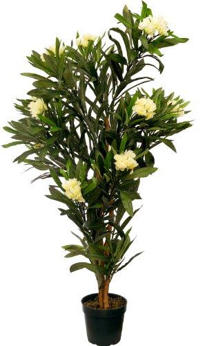 Oleander 1,20 m künstlich Kunstbaum Kunstpflanze Echtholzstamm