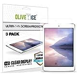 (Paquete de 3) iPad Mini 3 Protector de pantalla, OliveIce resistente al rayado, Capas de protección, Super delgado, Artículo, Alta definición (HD) Protector de pantalla anti-Glare para Apple iPad Mini 1/ iPad Mini 2/ iPad Mini 3