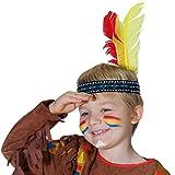 Feder Indianerschmuck Federkopfschmuck Kinderkostüm Indianer Zubehör Indianischer Federschmuck Indianerin Kostüm Mädchen Indianer Stirnband für Kinder