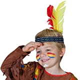 Indianer Stirnband für Kinder Feder Indianerschmuck Federkopfschmuck Indianischer Federschmuck