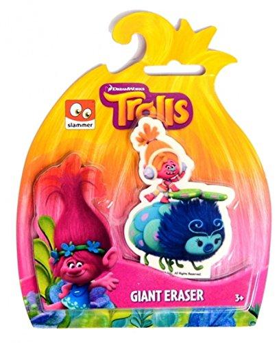Set 3 gomas de borrar Gigantes Trolls 8 x 8cm aprox