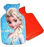 Wärmeflasche - ' Disney die Eiskönigin - Frozen - Elsa ' - 0,75 Liter - incl. Name - mit extra weichen Plüsch Bezug - Wärmflasche - wärmen + kühlen - Kinderwärmflasche - Wärmekissen Heizkissen - für Mädchen & Jungen - Wärme / groß Plüschtier - Tier / für Kinder Babys und Erwachsene - superweich - völlig unverfroren Prinzessin Anna Arendelle - Olaf