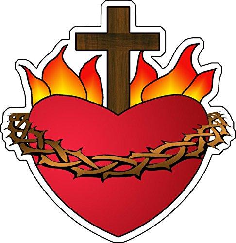 Autocollant le Sacré-Coeur de Jésus par Collectif