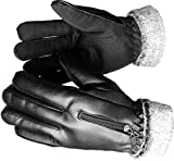 #4: AlexVyan®-Genuine Accessory- Premium Special High Quality Soft Leather Warm Winter Riding Gloves, Protective Cycling Byke Bike Motorcycle Glove for Women, Girls, Female Ladies Universal Size