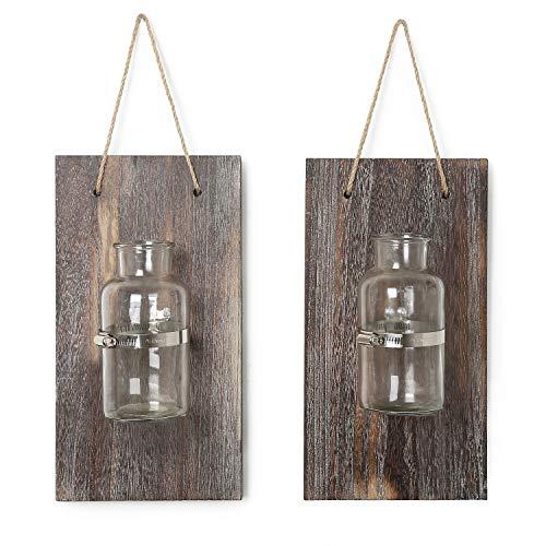 CALIFORNIA CADE ELECTRONIC (California Zeder Electronic Mason Jars-Rustic Wand Decor-Home Decor-Vintage Deko Flasche für künstliche Pflanze Oder Anything 12.8X6.8 Braun