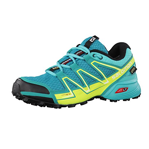Salomon Speedcross Vario Gore-Tex Women's Scarpe Da Trail Corsa - SS17 Deep Peacock Blue/Ceramic/Lime Punch