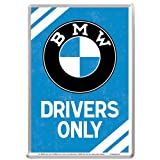 Nostalgic-Art 10308 BMW - Drivers Only, Blechpostkarte 10x14 cm