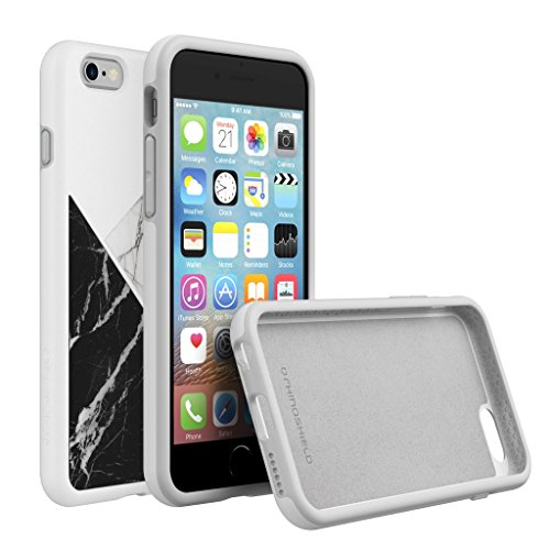 iPhone 6 Plus / 6s Plus Case, RhinoShield [SolidSuit Fibra di Carbonio] Heavy Duty. Shock Absorbent. Ultra Thin Scratch Resistant with Lifetime Warranty. 11ft Drop Protection Cover - Fibra di Carbonio Marmo Bianco