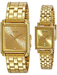 Sonata Analog Champagne Dial Couple's Watch -NK70538080YM01