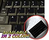 DVORAK SIMPLIFIED NON-TRANSPARENT KEYBOARD STICKERS ON BLACK BACKGROUND FOR DESKTOP, LAPTOP AND NOTEBOOK by 4Keyboard