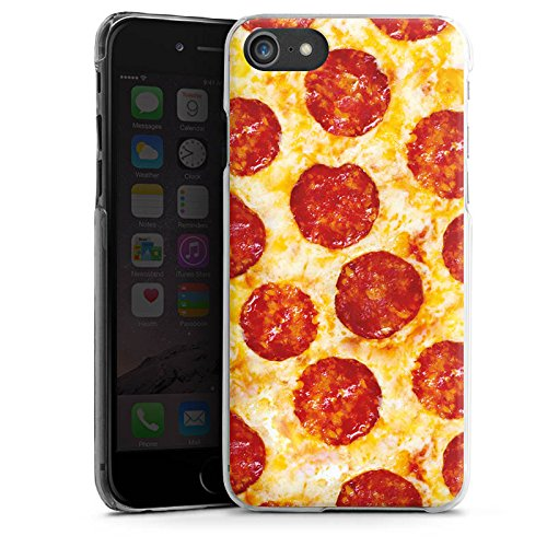 Apple iPhone X Silikon Hülle Case Schutzhülle Pizza Food Käse Salami Hard Case transparent