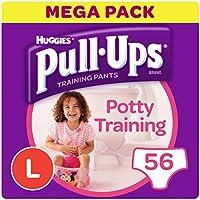 Huggies pull-ups–Pantalones de entrenamiento para el orinal para las niñas, grande