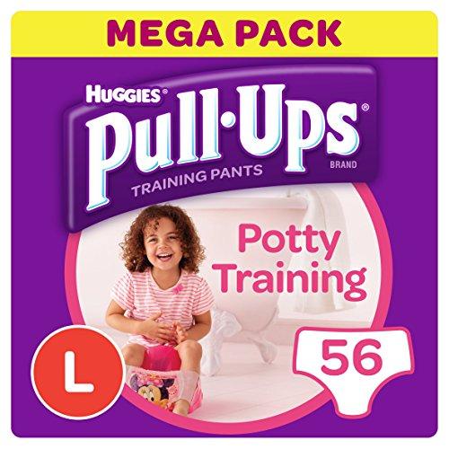 Huggies Pull-Ups Potty Training, Pantaloni da allenamento Vasino, Grande (56 Pantaloni)
