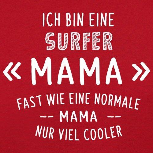 Ich bin eine Surfer Mama - Damen T-Shirt - 14 Farben Rot