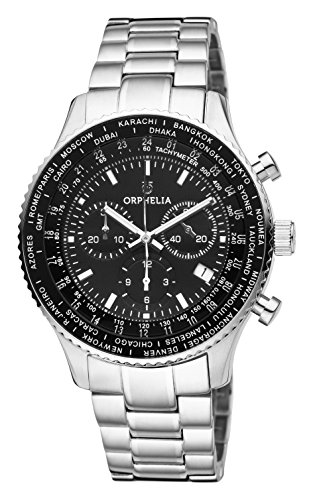 ORPHELIA Orologio Cronografo Quarzo Uomo con Cinturino in Acciaio Inox OR82703