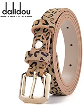 SILIU*Correa de cuero fino leopardo verano mujer presidente correa de cuero pequeña abrigos decorados cintura...