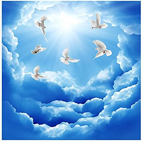 Sykdybz Flying In The Blue Sky Ceiling Custom 3D Wallpaper Murals Ceilings Home Decoration 3D Mural Wallpaper-350Cmx245Cm