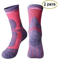 6c98c3ec87a63 Arcweg 2 Pares Medias Calcetines de Esquí Térmicos Hombre Calcetines  Deportivas de Compresión Mujer Algodón Elásticos
