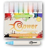 Bower tiza líquida rotuladores–8colores vibrantes limpiar en seco para pizarras, etiquetas de pizarra, de cristal y espejo escrito. Limpiar. No Permanente Marcadores