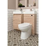 Aquariss Designer RH Oak Combi Bathroom Vanity Unit with Basin + Back to Wall Toilet