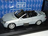 Kyosho Mercedes-Benz Clk Cabrio Silber Mit Soft Top A209 2002-2010 1/18 Modellauto Modell Auto