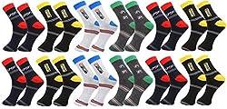 Zacharias Men's Ankle Length Socks Pack of 12 Pair