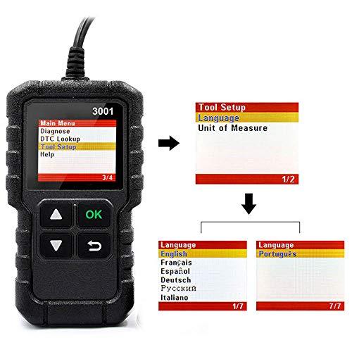 Preisvergleich Produktbild X431 Creader 3001 OBD2 Scanner Auto Diagnosegerät Check Motor Licht O2 Sensor Systeme OBD Code Leser Scan Tools