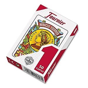 Fournier F20991 – Baraja española Nº 1, 50 cartas, surtido: colores aleatorios