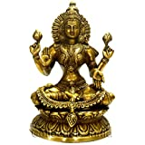 "Collectible India 9"" Big Laxmi Statue Brass Sculpture Hindu Goddess Lakshmi Figurine"