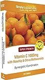 Vitamine C (Acide Ascorbique) 1000mg, Eglantier (Cynorrhodon) et Bioflavonoïdes de Citrus 120 Comprimés | Favorise la santé de la peau et des gencives | Renforce le système immunitaire | Végétarien | Fabriqué au Royaume-Uni