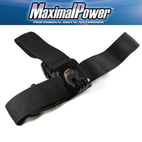 MaximalPower CA GP Head Strap Mount für GoPro HD Hero 3/2/3), Schwarz