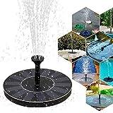 Fontana a energia solare con pompa per laghetto con monocristallini da 1,4 W, a energia solare, fontane a zampillo per laghetti artificiali, per laghetti da giardino