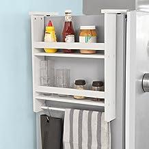 SoBuy® FRG149-W Hängeregal für Kühlschrank, Türregal, Badregal, Küchenschrank mit 2 Ablagen