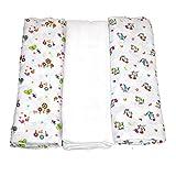 Babymajawelt Funny 13569mussola pannolini taglia XXL 120x 120può essere utilizzato come schermo/panno multifunzione per neonato, confezione da 3pezzi