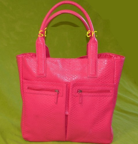 2014-neiman-marcus-exclusive-pink-faux-croc-tote-bag-color-pink-one-bag-only-by-neiman-marcus