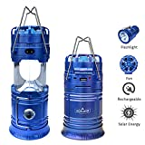 Best Camping Fans - Acelane 4 in 1 Portable Bright Solar Rechargeable Review