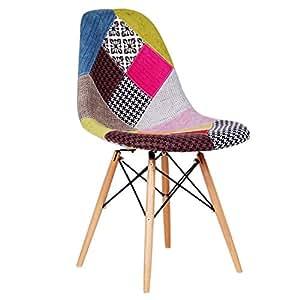 Superstudio stuhl 2er set wooden patchwork - Silla eames amazon ...