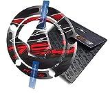 Cappad pour Kawasaki Z750 Z 750 (Noir/Rouge)
