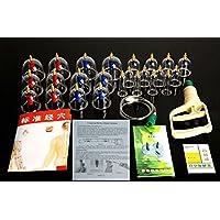 Glield Schröpfen Set mit 24 Schröpfgläser aus Kunststoff mit Vakuumpumpe BG01 preisvergleich bei billige-tabletten.eu